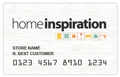 HomeInspiration credit card and financing